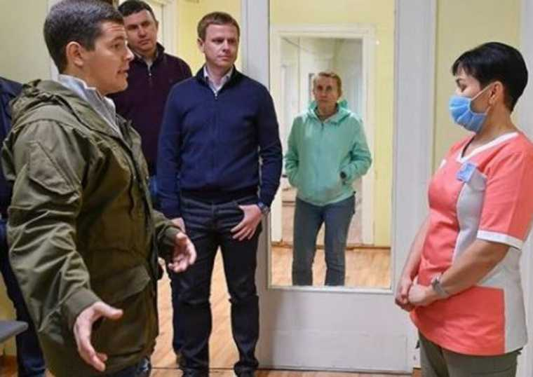 губернатор ЯНАО Артюхов записывается прием врача Муравленко ВИДЕО