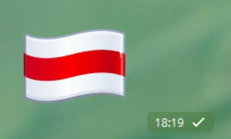 Telegram сменил официальный флаг Беларуси на оппозиционный. СКРИН