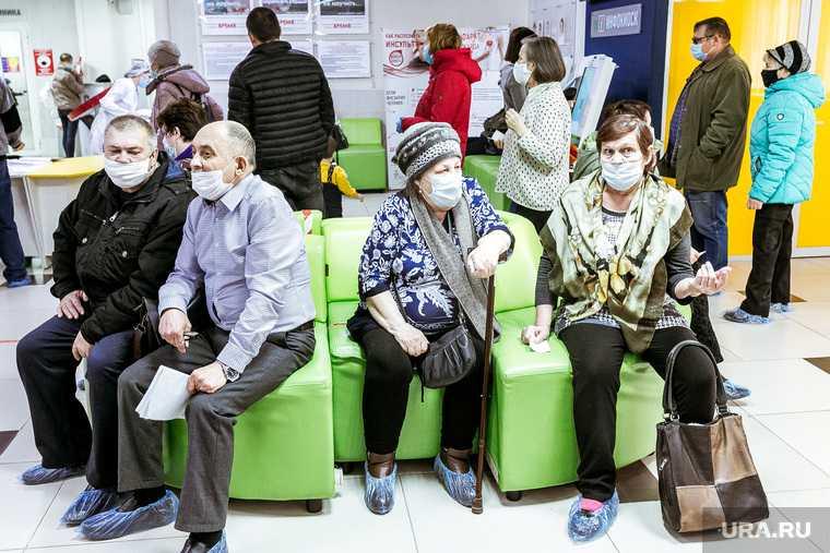 в тюменские больницы выстроились огромные очереди