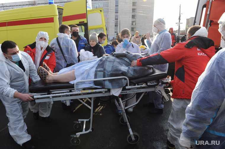 Последствия взрыва кислородной станции в госпитале на базе ГКБ№2. Челябинск