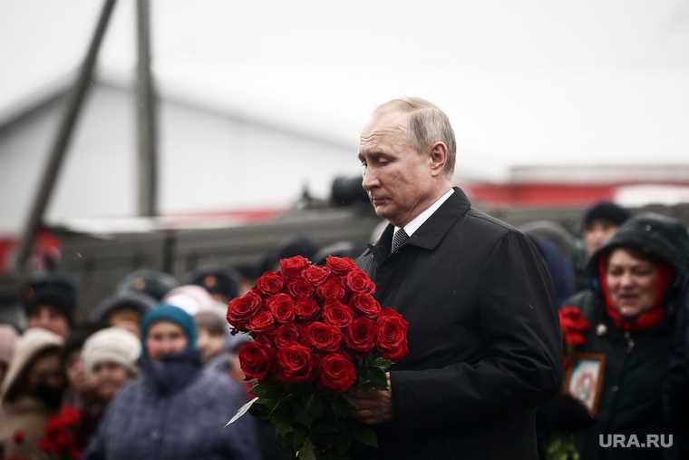 Путин цветы