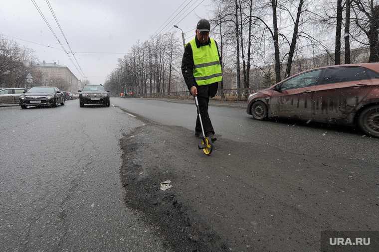 Челябинск улица Куйбышева автосервис асфальт провал яма фото