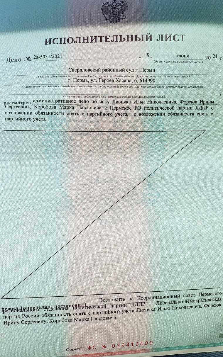 Член ЛДПР просит СКР возбудить дело на лидера партии в Перми